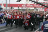 Hight's Crew Celebrates after he Wins U.S. Nationals, 2008